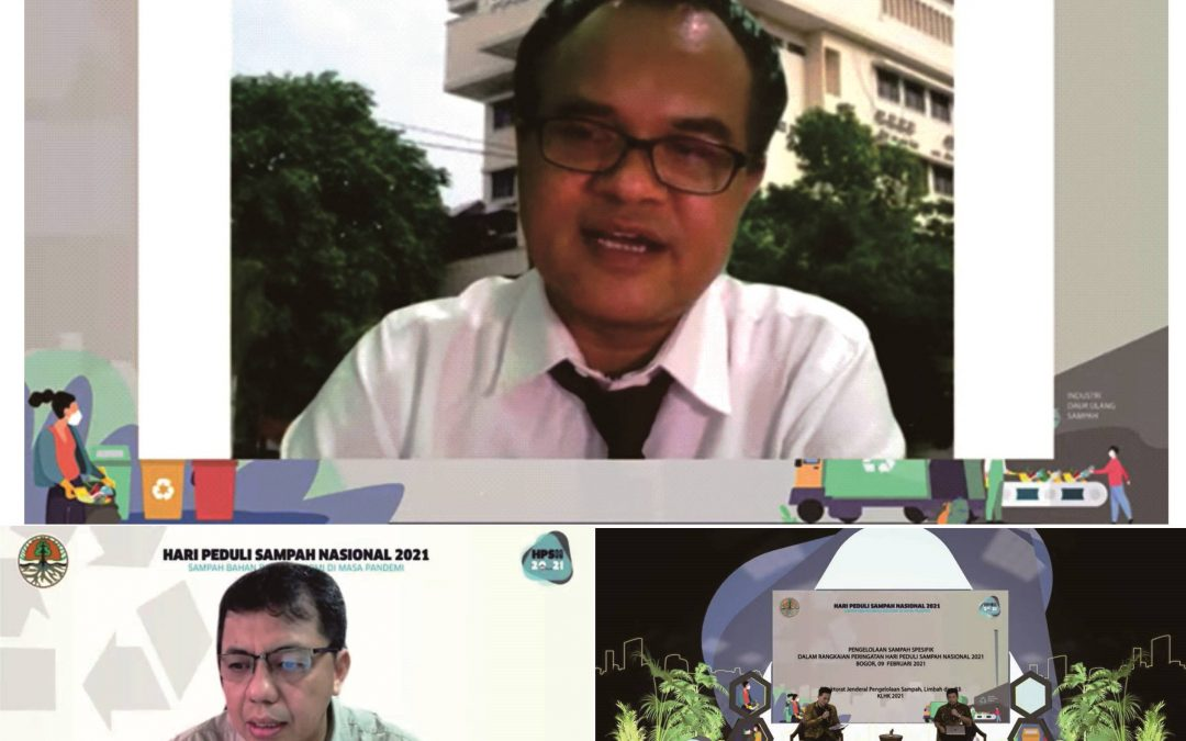Pakar Lingkungan UNDIP Dr Eng Maryono, ST, MT menjadi Narasumber di Kementerian Lingkungan Hidup Tentang Pengelolaan Sampah Spesifik